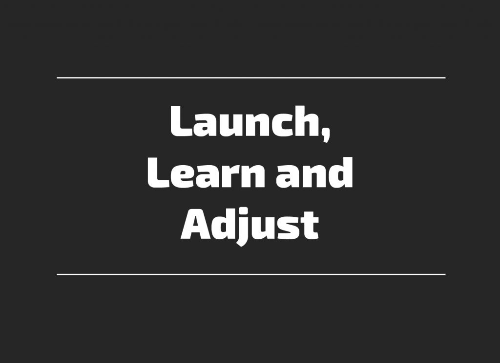 Launch Learn Adjust